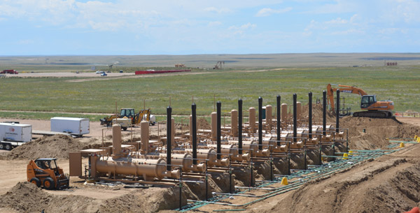 Oilfield construction in colorado separators