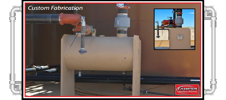 Oilfield Wellsite Custom Fabrication Services champion oilfield service